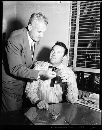 Mickey Finn retires from police department, 1954