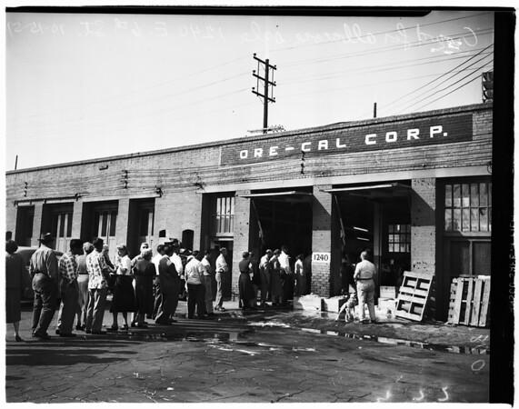 Tuna fish sale twenty-five cents per pound (1240 East Sixth Street), 1951