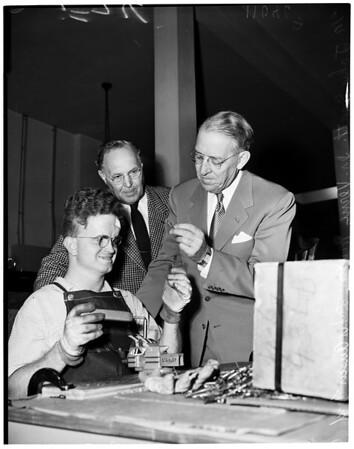 Cerebral Palsy Center dedication (formal opening), 5401 Beverly Boulevard, 1954