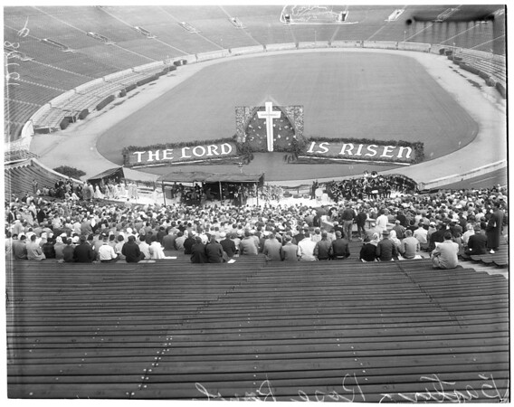 Rose Bowl Easter Sunrise Services, 1957