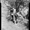 False alarm (woman over cliff at Elysian Park, she was picking mustard seed), 1956