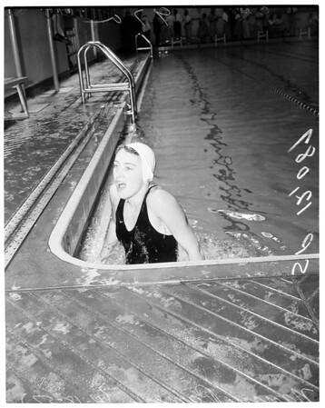 Swimming senior Women's National Indoor Championships, 1957