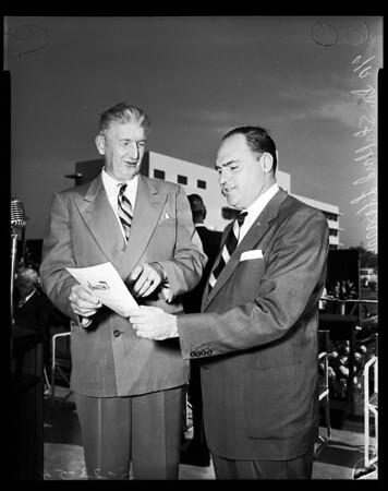 Daniel Freeman Memorial Hospital Inglewood dedication, 1954
