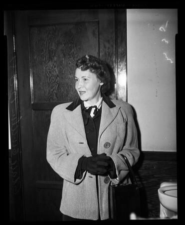 Divorced husband gets Alimony, 1955