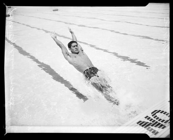 National Swim Meet entries, 1955