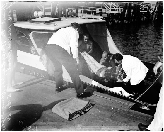 Fisherman drowns 1 rescued, 1958