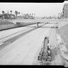 Harbor freeway new link, 1956