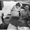 Newport fish market, 1955