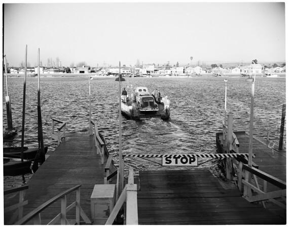 Balboa Island ferry boat, 1953