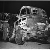Truck-Bus crash at Dana Point, 1951