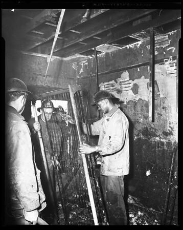 Fires: Fire at sanatorium - 727 East Adams, 1954