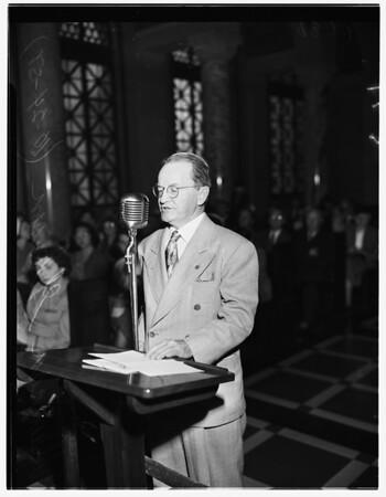 Art show before City Council, 1951