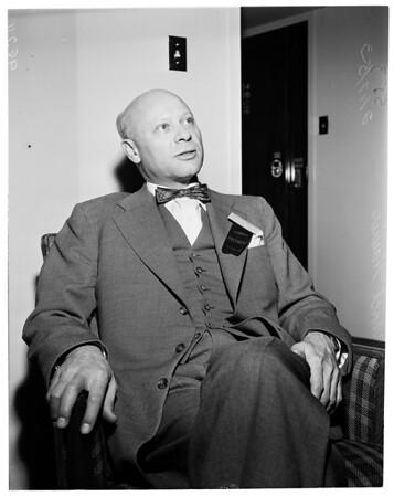 Interview, Statler Hotel, 1953
