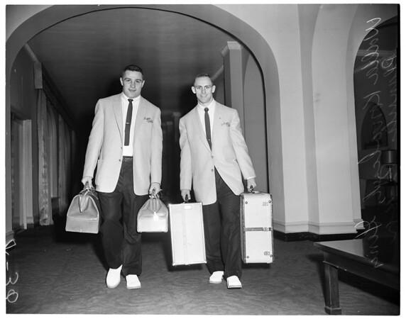 Michigan State arrival, 1955