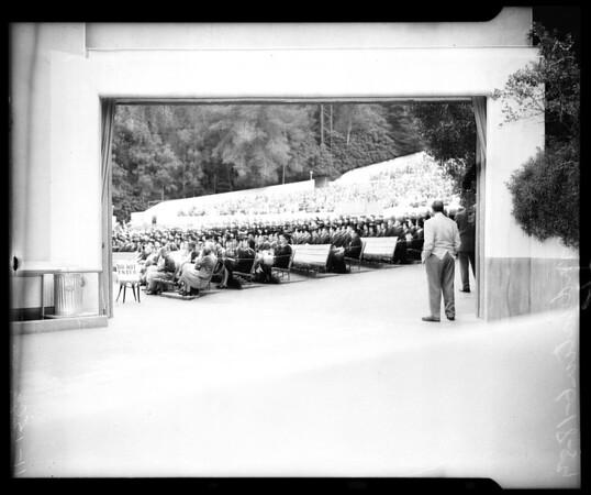 State College graduation, 1954