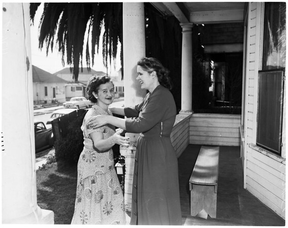 Mother and daughter reunited, 1956