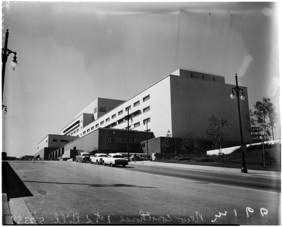 Los Angeles County new court house, 1958