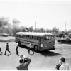 School bus fire drill (Arcadia), 1958