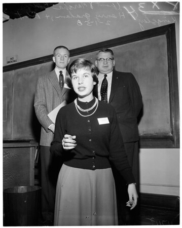 Law conference at University of Southern California, 1956