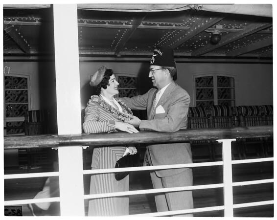 Shriners return, 1955