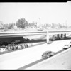 Open addition to Harbor Freeway, 1956