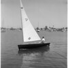 Finn Monotype one-man sail boat, 1960
