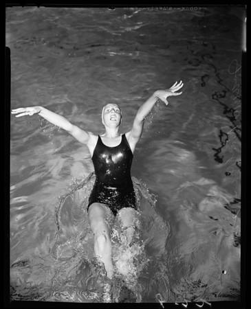 Examiner Swim Meet entries, Los Angeles Athletic Club, 1955