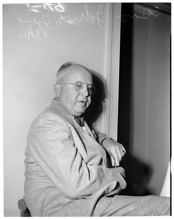 Interview at Ambassador Hotel, 1954