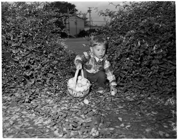Arcadia Easter egg hunt, 1957