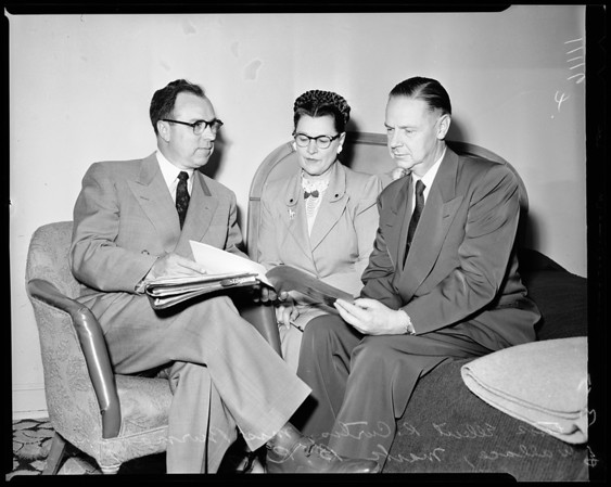 Mormon youth group conference, 1954