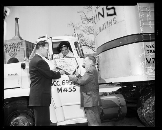 Baseball -- Dodger equipment arrival, 1958