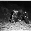 Car over cliff in police chase, 1951