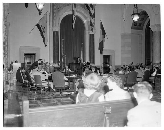 School kids run Senate (in action), City Hall, 1954