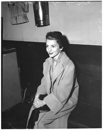 Alimony hearing, 1956