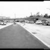 Harbor freeway new link, 1956