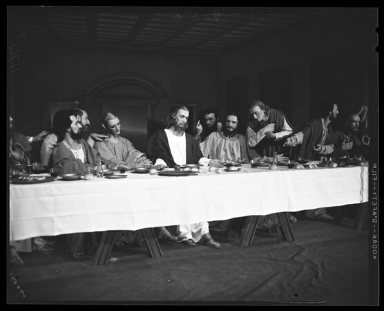 """""""Last Supper"""" done in wax, 1956"""