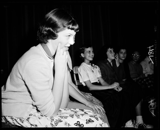 Schools: Thomas Starr King Junior High School (spelling bee), 1954