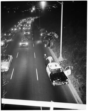 Pasadena freeway accident, 1955