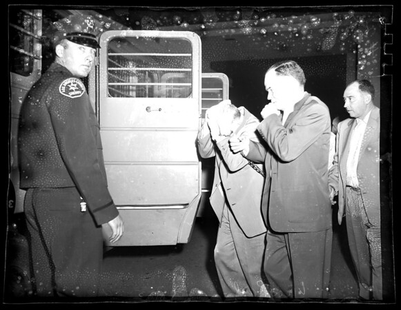 Vice raid at San Dimas Sheriff Station, 1954