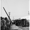 Auto into pole (87th Street and Figueroa Street), 1951