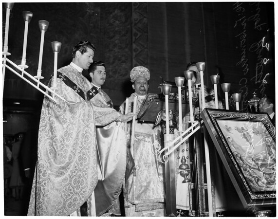 Greek Easter services at St. Sophia Cathedral, 1957