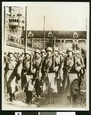 Goosestepping into Austria, 1938