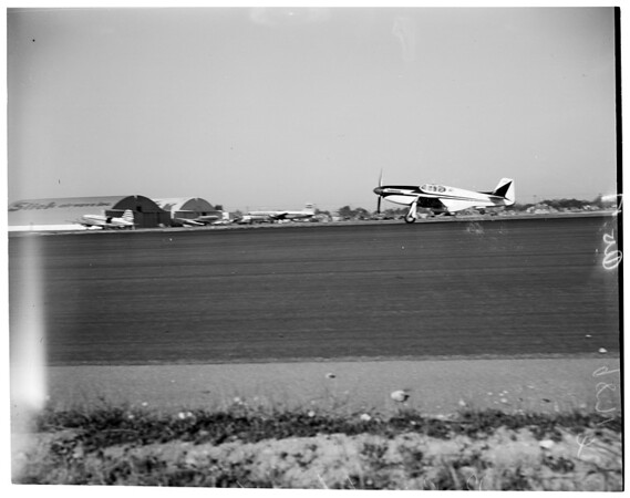 Record flight attempt from Burbank to New York, 1953