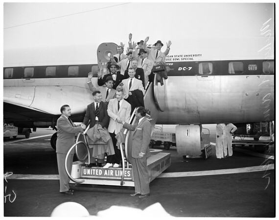 Michigan State arrival, 1955
