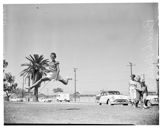 Baton twirling contest, 1960