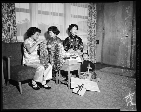 Chinese bazaar and dinner (1116 N. Figueroa street), 1954