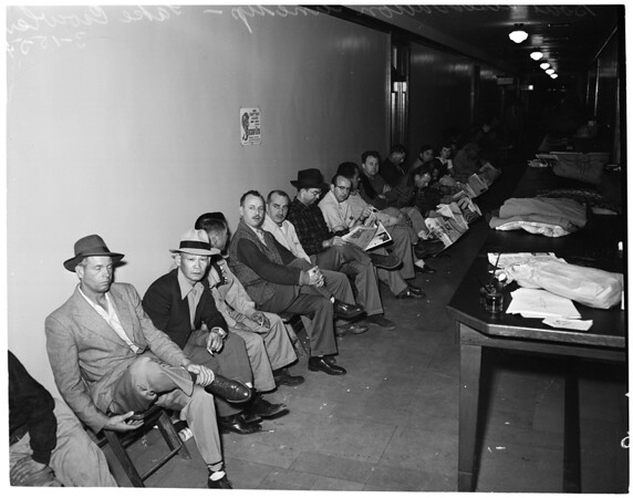 Boat reservations at City Hall, 1954