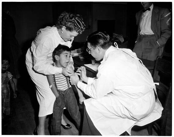 Children vaccinated (San Pedro Elementary School), 1954