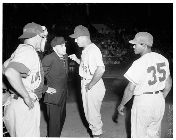 Hollywood vs. Los Angeles Baseball,  1955
