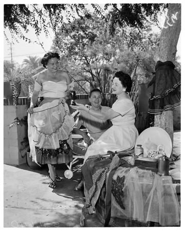 Exceptional Children's Foundation women planning bazaar, 1955